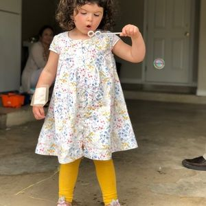 Old Navy 5T button down floral dress